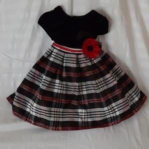 EUC 2T Holiday Dress - velvet top